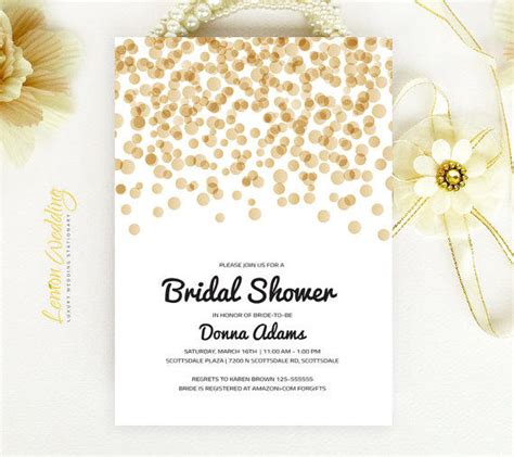 black and gold bridal shower invitations bridal shower invitation gold and black from lemonwedding on