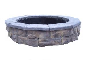 stone fire pit kit natural concrete products co fossill stone fire pit kit ebay
