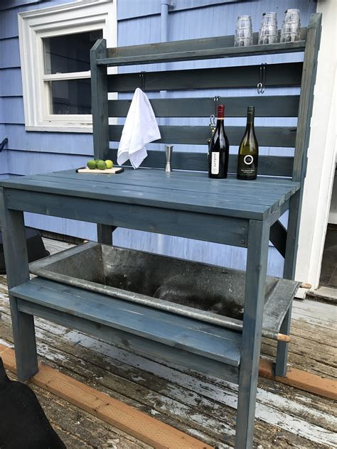 white potting bench ana white potting bench or outdoor bar diy projects