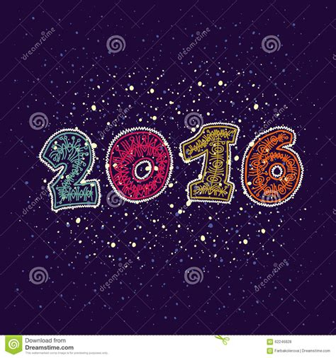 new year greeting card design 2016 happy new year 2016 greeting card design element stock