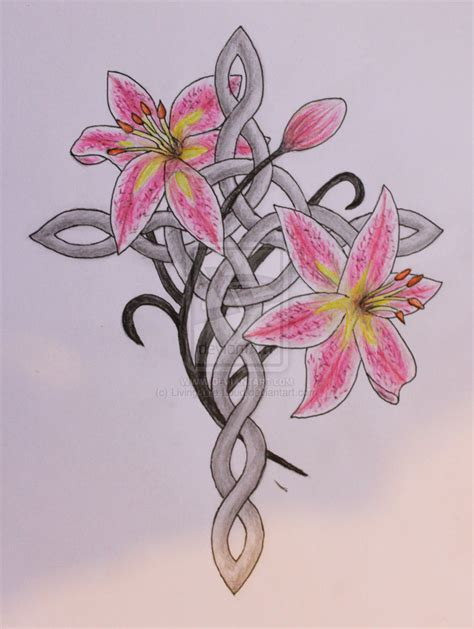 stargazer lily tattoos design