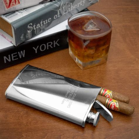 To Market Recap Cool Flask by 2 In 1 Cigar Holder And Flask Agazoo