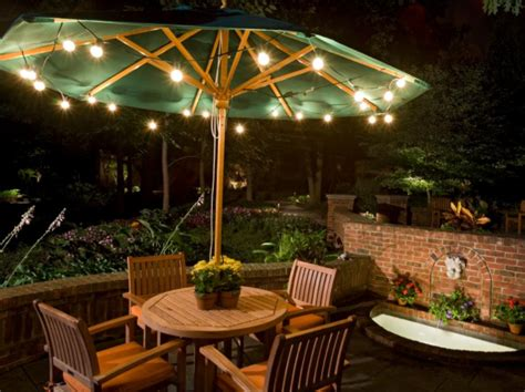 outdoor umbrella lighting 75 beautiful and artistic outdoor lighting ideas home