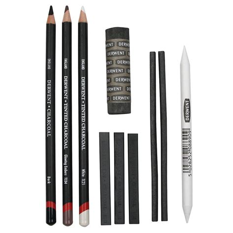 Derwent Compressed Charcoal Blocks Blister Pack Of 6 derwent charcoal set cult pens