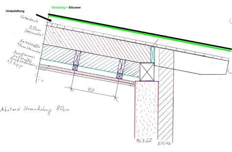 Pultdach Aufbau Detail by Dacheindeckung Bitumen Kosten Nutzen Bauforum Auf