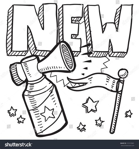 doodle service doodle style new product or service announcement icon in