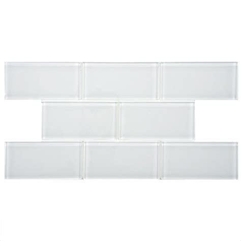 merola tile tessera subway white 3 in x 6 in glass