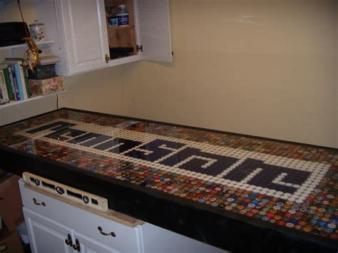 how high is a bar top 18 diy beer bottle cap table designs guide patterns