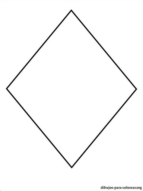 figuras geometricas un rombo dibujo de rombo para pintar dibujos para colorear