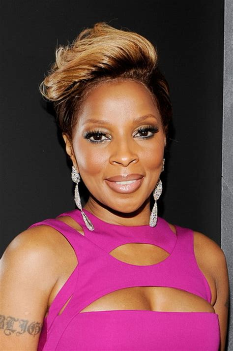 Mary J Blige Hairstyle At The Grammys | mary j blige short hairstyles