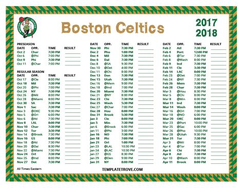 printable schedule for boston celtics printable 2017 2018 boston celtics schedule