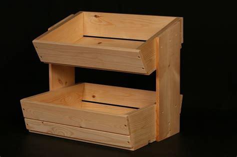 Wooden fruit and vegetable storage rack 2 tier   DIY