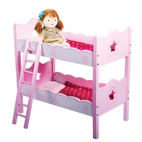 beds for dolls doll bunk bed wooden set svan