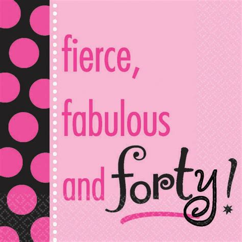 Fabulous At 40 Decorations by Fierce Fabulous And Forty Beverage Napkin 16ct