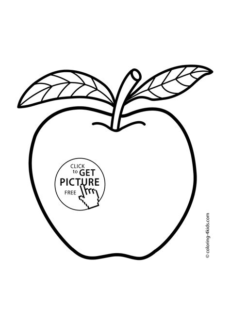 coloring book apple pencil apple fruits coloring pages for printable free