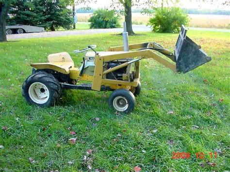 Garden Tractor Loader by Michael S Tractors Simplicity And Allis Chalmers Garden Tractors B 16 Loader Project