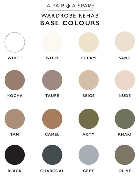 neutral colour how to choose the colour palette for your wardrobe
