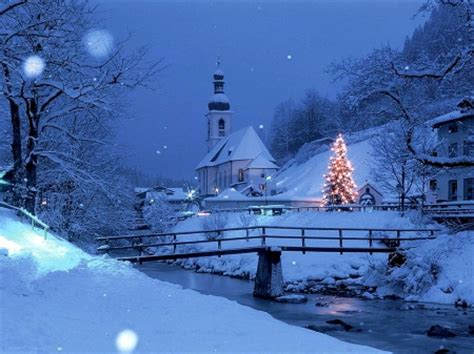 images of christmas nature christmas blue village winter nature background