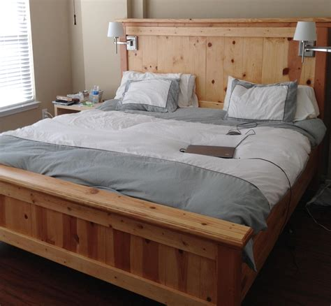 diy king bed frame king size bed frame plans bed plans diy blueprints