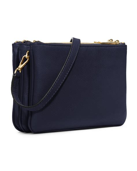 Tas Michael Kors Bag In Bag michael kors michael bedford gusset crossbody bag in blue