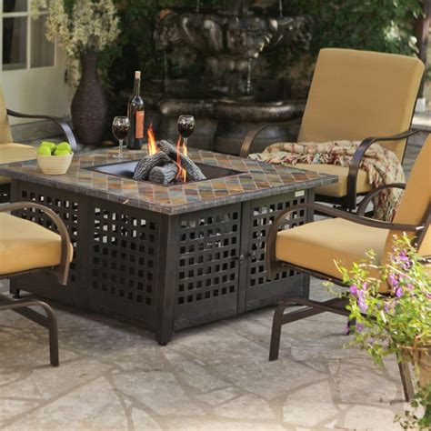 Uniflame Propane Gas Fire Pit With Handcrafted Tile Www Lp Gas Firepits