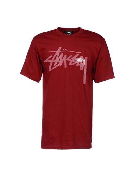 Stussy T Shirt lyst stussy t shirt in purple for