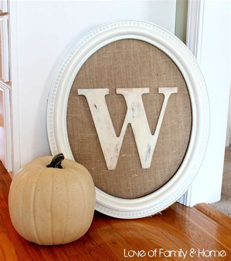 monogram diy projects 10 awesome diy home decor burlap projects crafts a la mode