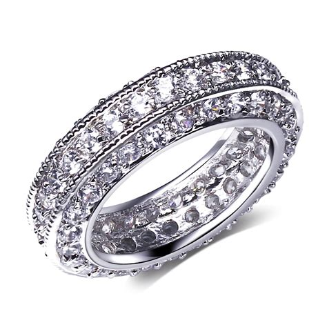 High Quality Simulated Engagement Rings by Aliexpress Buy Beautiful Wedding Rings Setting Cubic