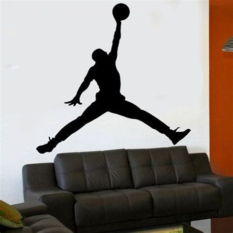 michael wall stickers vinyl wall sticker decal michael jumpman 6 foot x 6
