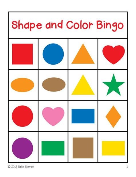 shapes and colors shape and color bingo 4 215 4 2 teaching