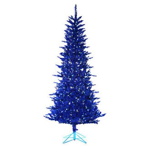 westinghouse pre lit christmas tree 7 5 ft x 44 in blue tinsel pre lit