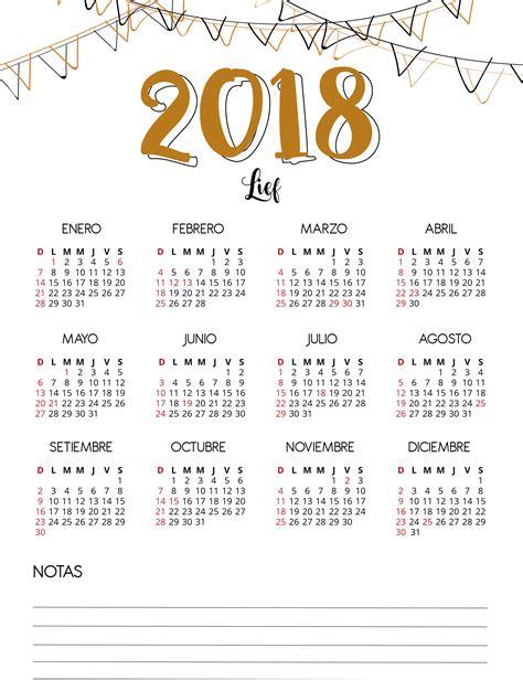 Calendario 2018 Uruguay Lief Te Regala Este Calendario 2018 Para Imprimir Y