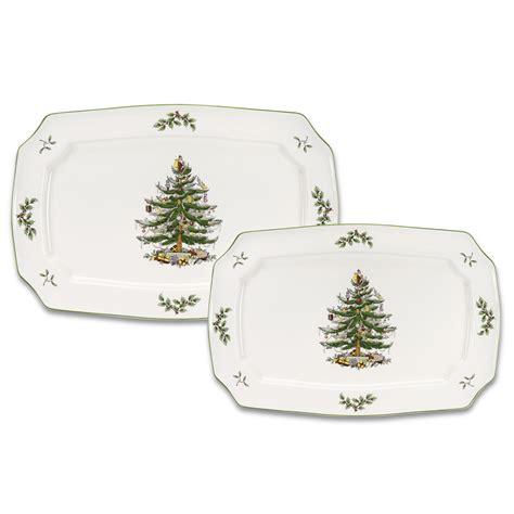 spode christmas tree flatware 45 piece set spode tree set 2 rectangular platters 73 45 you save 73 55