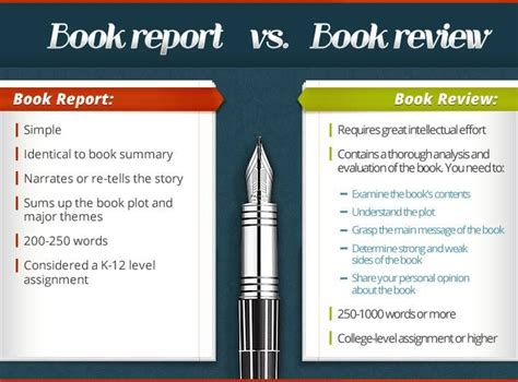 Book Vs Essay by Comparison Of Features Of Book Review Vs A Book Report Brave Writer Arrow Book Reviews