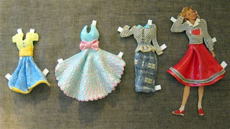 How To Make Paper Doll Clothes - stephens diy ceramic paper doll dresses