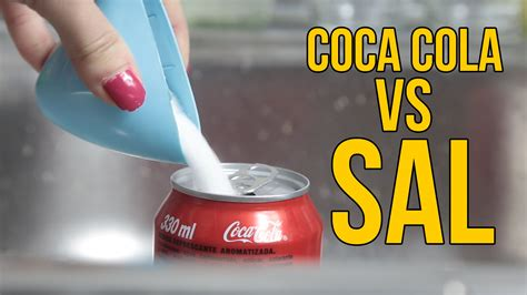 experimento agua con sal qu 233 ocurre si mezclas coca cola con sal experimentos