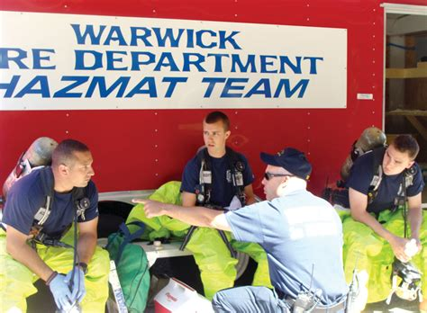 chris sullivan firefighter hazmat training no day in park for warwick firefighters