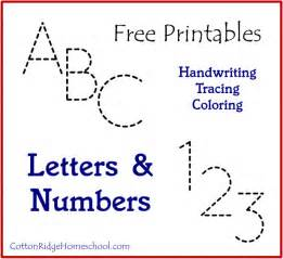 Letters amp numbers handwriting tracing amp coloring free printables