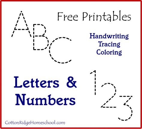 letters numbers handwriting tracing coloring free letters numbers handwriting tracing coloring free