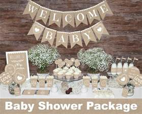 rustic baby shower decorations printable gender neutral baby