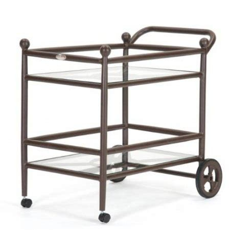 patio serving cart by caluco outdoor