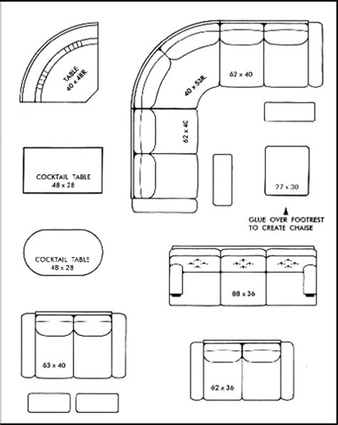 Furniture To Scale Cutouts Furniture Designs Furniture Templates To Scale