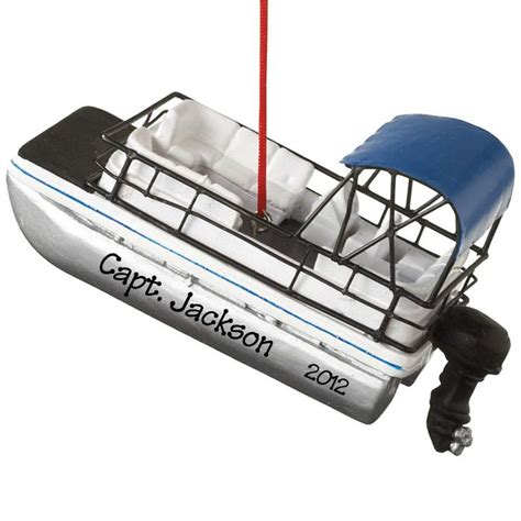 personalized pontoon boat ornament ornaments more pontoon personalized dimentional