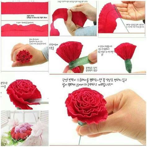 Crepe Paper Roses - bloemen maken crepe papier knutselen en verkleden