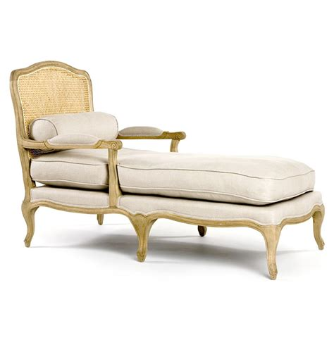 chaise lon french country bastille caned linen oak chaise long chair
