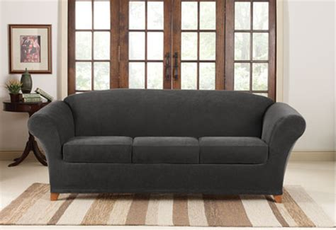Slipcovers sofas stretch piqu 233 3 seat inidual cushion sofa covers