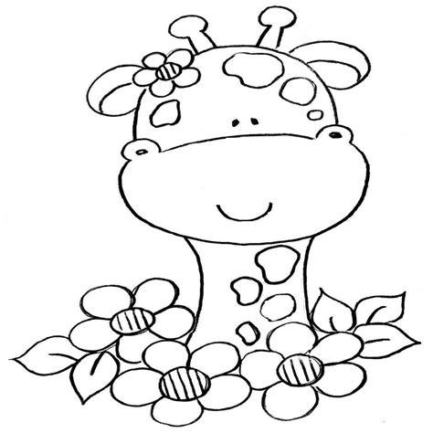 imagenes de jirafas para pintar dibujos para colorear de jirafas animadas