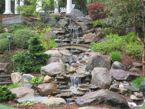 backyard fountains and waterfalls backyard waterfall pond and garden in connecticut by