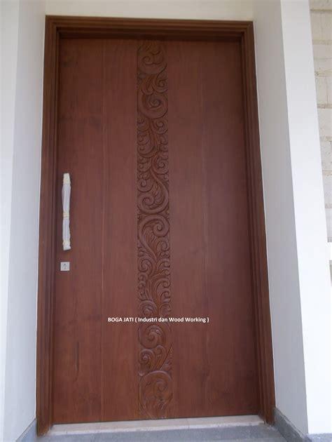 Pintu Jati Solid Kombinasi Kaca pintu panil solid kayu pk boga jati