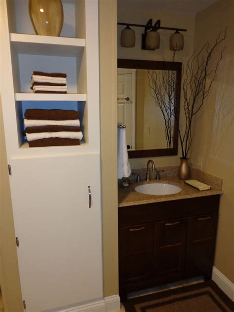 bathroom cabinets built in tall built in cabinet designed to store bathroom stuff and